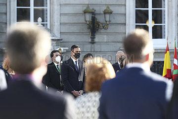 SPANIEN-MADRID-COVID-19-OPFER-feierliche Zeremonie