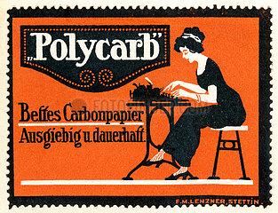 Werbung fuer Karbonpapier  Durchschlagpapier  1913