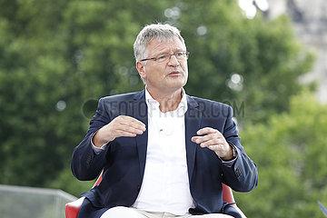 Christian Lindner - TV-Produktion ARD-Sommerinterview mit dem AfD Chef Joerg Meuthen Bericht aus Berlin