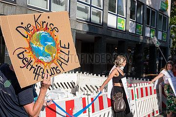 Menschenkette for Future in München