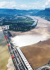 CHINA-HUBEI-JANGTSE-THREE GORGES DAM-Flutwasser Entladetiefe (CN)