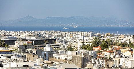 Blick ueber in Athen