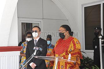 GHANA-ACCRA-CHINA-COVID-19-MEDIZINISCHE VERSORGUNG-SPENDEN
