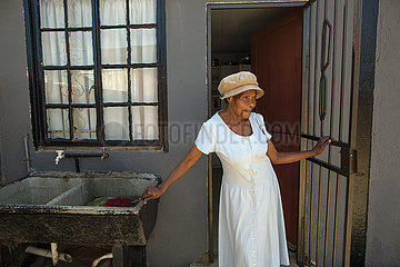 Johannesburg  Soweto  Suedafrika - Sozialprojekte-Aids im Township  Soweto