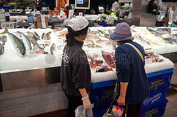Sydney  Australien  Frischer Fisch auf dem Sydney Fischmarkt in Pyrmont