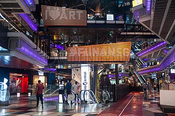 Singapur  Republik Singapur  Innenaufnahme des umgebauten und sanierten Funan Einkaufszentrum