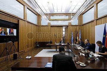 BM Maas bei Vidiokonferenz mit Wang Yi