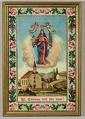 Heilige Corona  Wandbild  1895