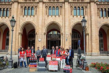 Protest gegen die geplante zweite Bahnstrecke durch das Inntal