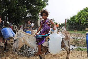 JEMEN-Hajjah Provinz-Wassermangel