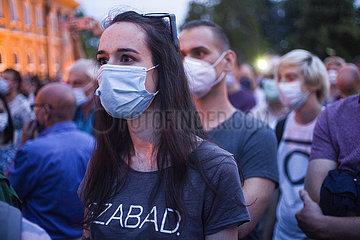 Index.hu - Protest gegen Einschränkung der Pressefreiheit in Budapest   Index.hu - Protest against freedom of the press in Budapest