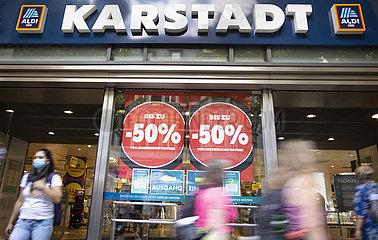 Karstadt Filiale vor Schliessung