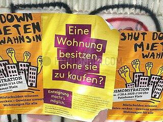 Werbung fuer Enteignung der Deutschen Wohnen