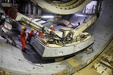 CHINA-SHANDONG YELLOW-RIVER-TUNNEL CONSTRUCTION-(CN)