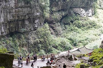 CHINA-CHONGQING-wulong-Tiansheng Sanqiao SZENISCHER AREA-Landschaft (CN)