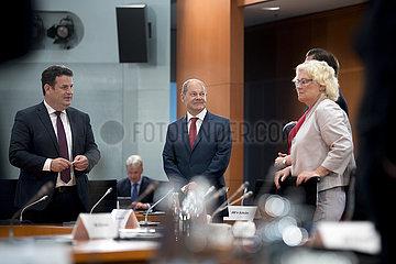 Hubertus Heil  Olaf Scholz  Kabinett