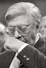 Helmut Schmidt  Schnupftabak  Nuernberg  1986