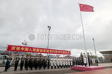 CHINA-Hongkong PLA GARRISON-NATIONAL FLAG-HEBEZEREMONIE (CN) CHINA-Hongkong PLA GARRISON-NATIONAL FLAG-HEBEZEREMONIE (CN)