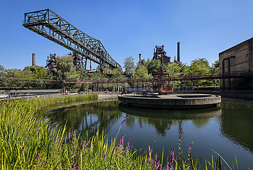 Landschaftspark Duisburg-Nord  Ruhrgebiet  Nordrhein-Westfalen  Deutschland  Europa