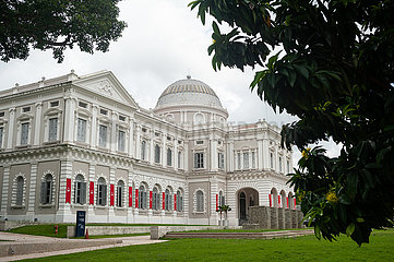 Singapur  Republik Singapur  Aussenansicht des National Museum of Singapore