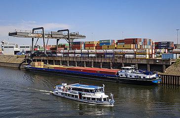 Duisburger Hafen  Ruhrgebiet  Nordrhein-Westfalen  Deutschland  Europa
