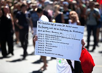 Demo von Corona-Skeptikern am 01.08.2020