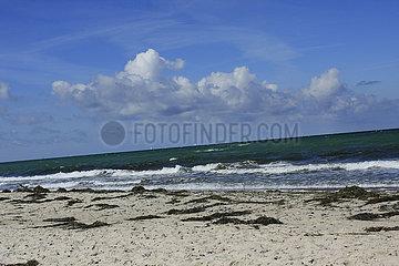 Weststrand auf die Ostseehalbinsel Darss