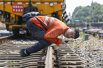 CHINA-JIANGXI-RAILWAY-WORKERS (CN)