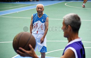 (SP) CHINA-JINAN-Basketball SENIOR (CN)
