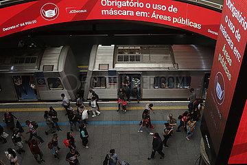 BRASILIEN-SAO PAULO-COVID-19-FÄLLE