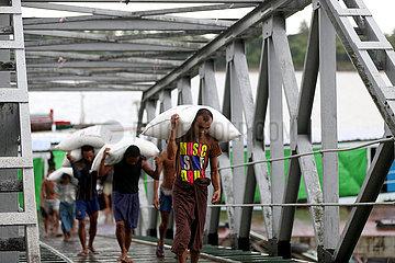 MYANMAR-YANGON-REIS EXPORT