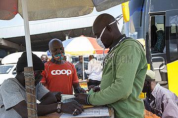 ZAMBIA-LUSAKA-COVID-19-Busterminal