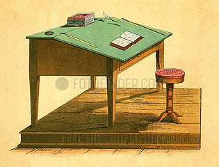 Lehrerpult  Illustration  1871