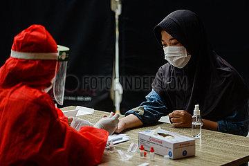 INDONESIA-TANGERANG-COVID-19-CASES