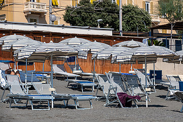 Corona Virus: Situation am Strand in Italien