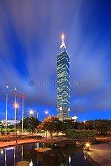 Taipei 101 Finanzgebäude.