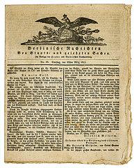 Berlinische Nachrichten von Staats- und gelehrten Sachen  Berliner Zeitung  1813