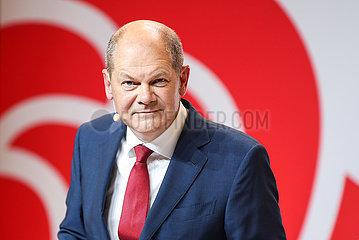DEUTSCHLAND-BERLIN-SPD-OLAF SCHOLZ-Kanzlerkandidatin-NOMINIERUNGS