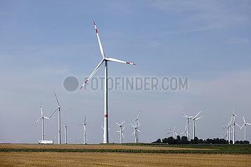 Windrad  Linnich  Nordrhein-Westfalen  Deutschland