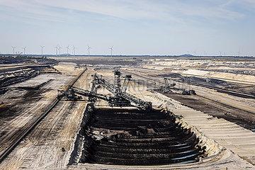 RWE Braunkohletagebau Inden  Inden  Nordrhein-Westfalen  Deutschland