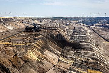 RWE Braunkohletagebau Garzweiler  Deutschland  Europa