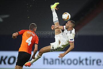 (SP)GERMANY-GELSENKIRCHEN-FOOTBALL-UEFA EUROPA LEAGUE-DONETSK VS BASEL