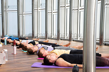 Highest yoga class is taken place in the World's tallest building-Burj Khalifa in Dubai