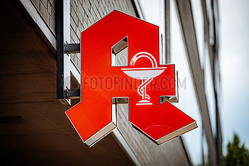 Apotheken Logo-Symbolfoto zum Thema Apothekensterben