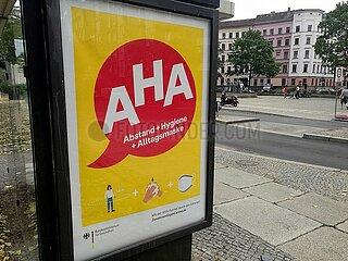 Werbung fuer AHA-Regeln