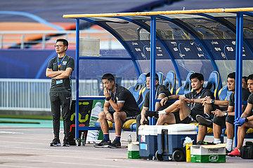 (SP) CHINA-SUZHOU-FOOTBALL-CHINESE SUPER LIGA-QINGDAO huanghai VS Beijing Guoan (CN)