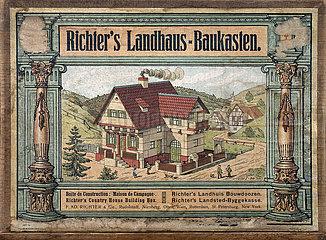 Landhaus Baukasten  Firma F. AD. Richter & Cie.  Rudolstadt  Spielwaren  1907
