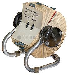 alte Rolodex Adresskartei  1988