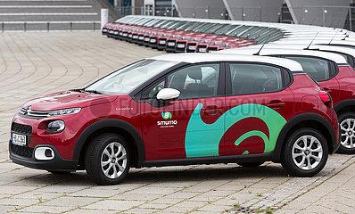 Deutschland  Bremen - cambio Bremen praesentiert die Einfuehrung von smumo - smart urban mobility mit neuen Citroen C3