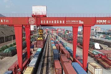 # CHINA-JIANGSU-LIANYUNGANG-CHINA-EUROPE FREIGHT TRAIN-Zunahme (CN) # CHINA-JIANGSU-LIANYUNGANG-CHINA-EUROPE FREIGHT TRAIN-Zunahme (CN)
